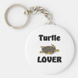Turtle Lover Basic Round Button Key Ring