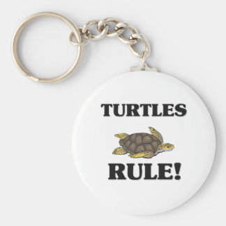TURTLES Rule! Basic Round Button Key Ring