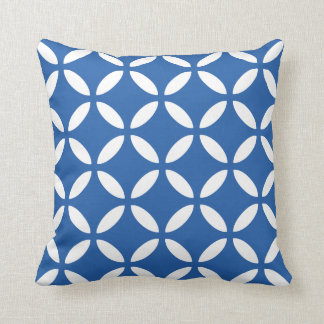 Tuva Pattern Cobalt Blue Geometric Throw Pillow Cushions