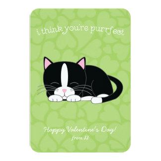 Tuxedo Cat Valentines 9 Cm X 13 Cm Invitation Card