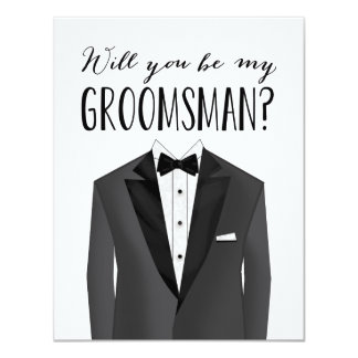 Tuxedo Groomsman | Groomsman 11 Cm X 14 Cm Invitation Card