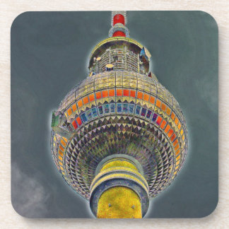 Tv Tower (Fernsehturm), Berlin, Art Effect Beverage Coaster