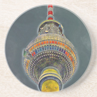 Tv Tower (Fernsehturm), Berlin, Art Effect Drink Coasters