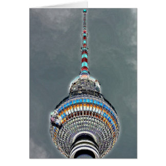 Tv Tower (Fernsehturm), Berlin, Artistic (tv2art2) Greeting Card