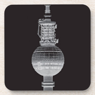 Tv Tower (Fernsehturm), Berlin,Grey (tv14bw) Drink Coasters
