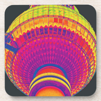 Tv Tower (Fernsehturm), Berlin, Rainbow Colour (tv Coaster