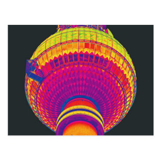 Tv Tower (Fernsehturm), Berlin, Rainbow Colour (tv Postcard