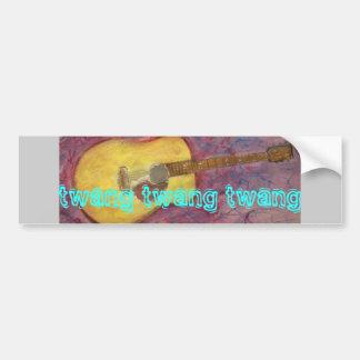 twang twang twang Acoustic Bumper Sticker