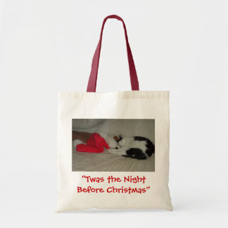 Twas the Night before Christmas Kitten Budget Tote Bag