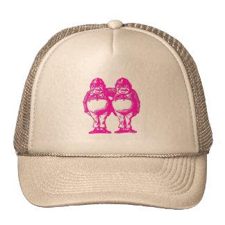 Tweedle Dee & Tweedle Dum in Purple Pink Cap
