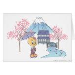 Tweety Japan Greeting Card