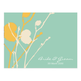 Twig TROPICAL wedding invitation P Postcard