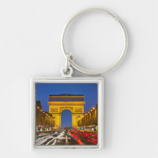 Twilight Along Champs Elysee Silver-Colored Square Key Ring