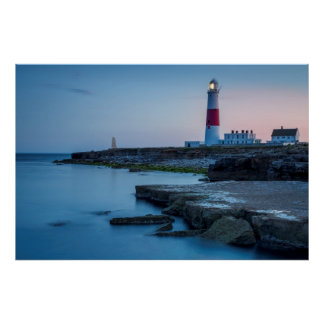 Twilight at the Portland Bill Lighthouse Poster