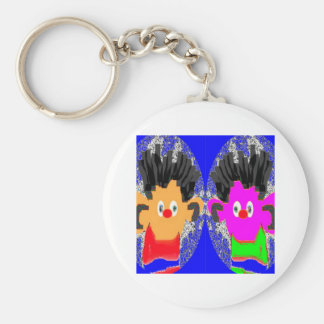 Twin Erines - Win Charles Licensed Gallery Basic Round Button Key Ring