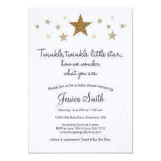 Twinke Twinkle Little Star Baby Shower Invitation