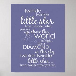Twinkle Twinkle Little Star Poster