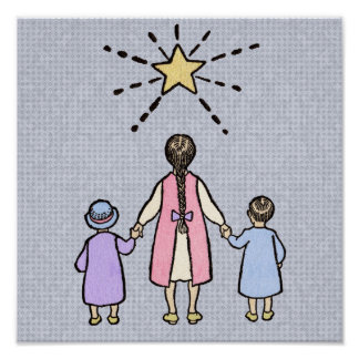 Twinkle, Twinkle Little Star Vintage Nursery Rhyme Poster