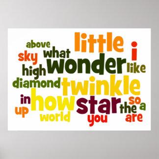 Twinkle, Twinkle Little Star wordart Poster