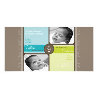 TWINS PHOTO BIRTH ANNOUNCEMENT :: cherished 2L Photo Cards