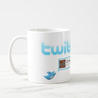 "Twitter ""Drinking tea"" Basic White Mug"
