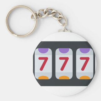 Twitter Emoji - Lucky 7 Basic Round Button Key Ring