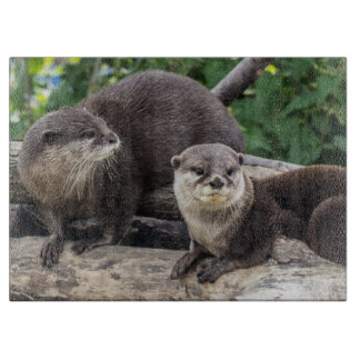 Two Cute Otters | Otter Cutting Board