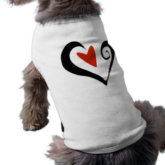 Two Hearts that Beat as One Sleeveless Dog Shirt
