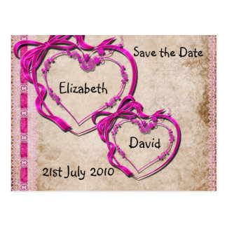 Two Hearts Together Postcard