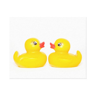 Two Kissing Ducks Stretched Canvas Prints