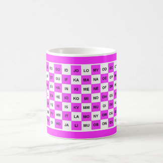 Two letter word mug in Pink Intl version