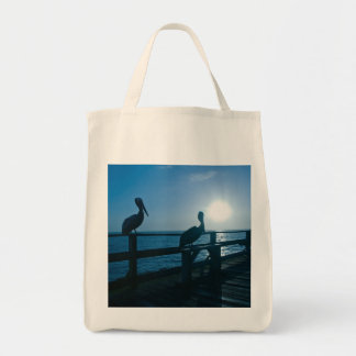 Two Pelicans At Sunrise Bag