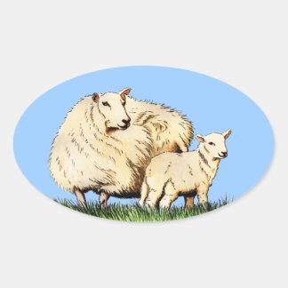 two sheep animal sticker