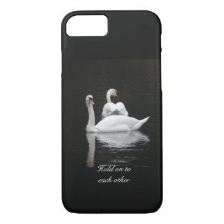 Two swans on a lake iPhone 7 case