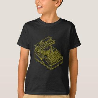 Type Writing Machine Patent Illustration T Shirt