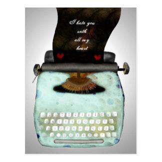 Type your own valentine message vintage typewriter postcard