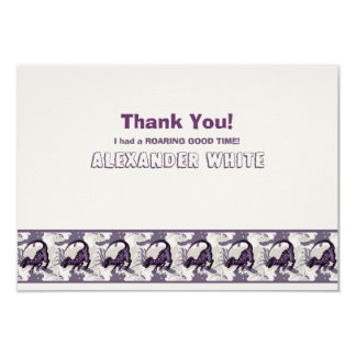 Tyrannosaurus Rex Dinosaur Personalized Stationery 9 Cm X 13 Cm Invitation Card
