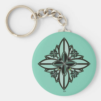 U-pick Color/ Iron Celtic Good Fortune Flower II Basic Round Button Key Ring