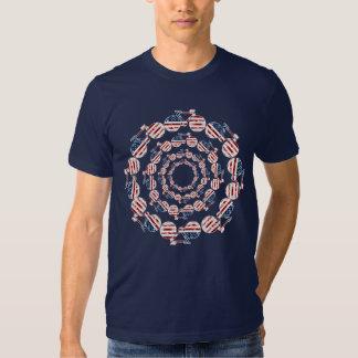 U.S.A. flag mandala bicycles in circles Tee Shirt