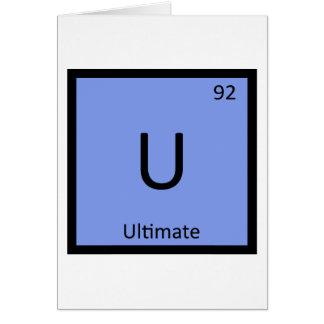 U - Ultimate Frisbee Sports Chemistry Symbol Greeting Card