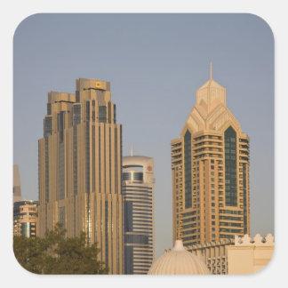 UAE, Dubai. Minaret of mosque in Al Wasl, with Square Sticker