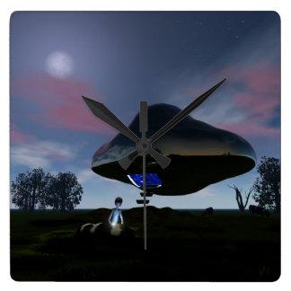 UFO Cattle Mutilation Clock
