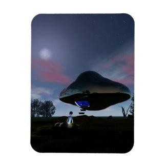 UFO Cattle Mutilation Rectangular Photo Magnet
