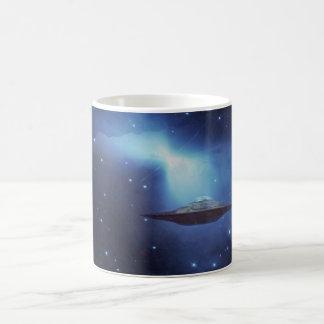 UFO fantasy galaxy Coffee Basic White Mug