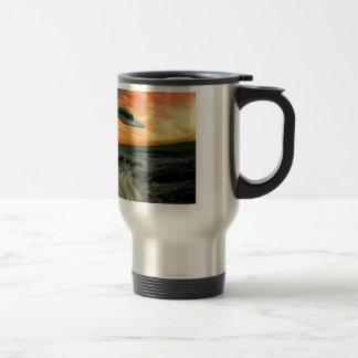 UFO Over Coast Stainless Steel Travel Mug