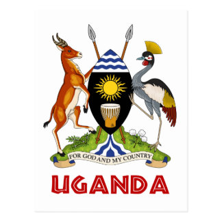 UGANDA -  flag/emblem/coat of arms/symbol Postcard