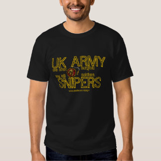 UK Army sniper cool military t-shirt design