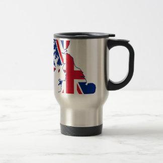 UK Flag Map Stainless Steel Travel Mug