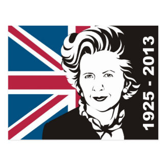 UK mourns Margaret Thatcher, England's Iron Lady Postcard