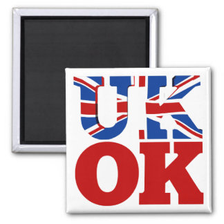 UK OK! Better Together Square Magnet
